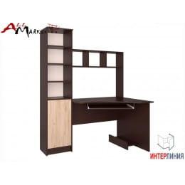 Компьютерный стол Интерлиния СК 005 венге / дуб серый