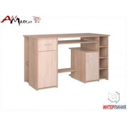 Компьютерный стол Интерлиния СК 006 дуб сонома / дуб белый