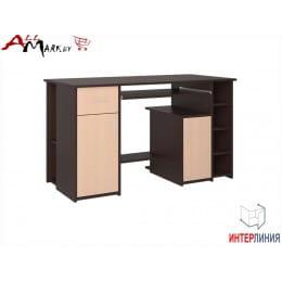 Компьютерный стол Интерлиния СК 006 венге / дуб молочный