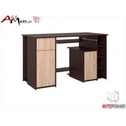 Компьютерный стол Интерлиния СК 006 венге / дуб серый