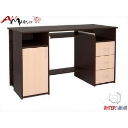 Компьютерный стол Интерлиния СК 007 венге / дуб молочный