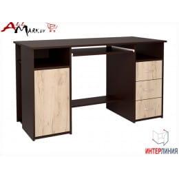 Компьютерный стол Интерлиния СК 007 венге / дуб серый