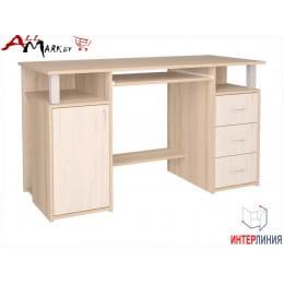 Компьютерный стол Интерлиния СК 008 дуб сонома / дуб белый