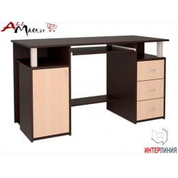 Компьютерный стол Интерлиния СК 008 венге / дуб молочный