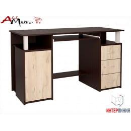 Компьютерный стол Интерлиния СК 008 венге / дуб серый