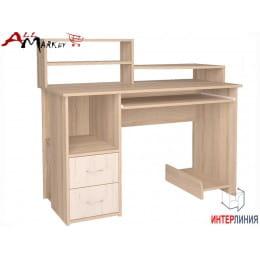 Компьютерный стол Интерлиния СК 009 дуб сонома / дуб белый