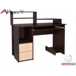 Компьютерный стол Интерлиния СК 009 венге / дуб молочный