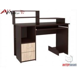 Компьютерный стол Интерлиния СК 009 венге / дуб серый