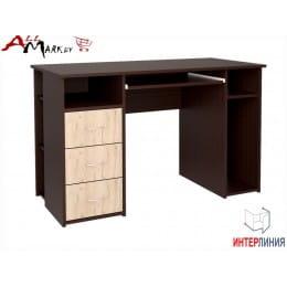 Компьютерный стол Интерлиния СК 010 венге / дуб серый