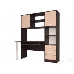 Компьютерный стол Интерлиния СК 011 венге / дуб молочный