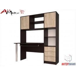 Компьютерный стол Интерлиния СК 011 венге / дуб серый