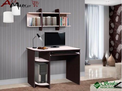 Компьютерный стол Мебель-Класс Компакт, венге / дуб шамони