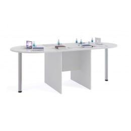 Стол для переговоров Сокол-мебель СПР-04 с приставками СПР-03 белый