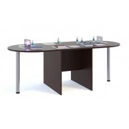 Стол для переговоров Сокол-мебель СПР-04 с приставками СПР-03 венге