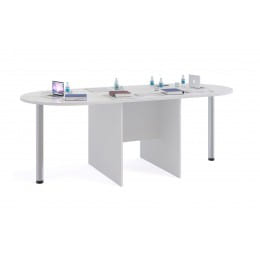 Стол для переговоров Сокол-мебель СПР-05 с приставками СПР-03 белый