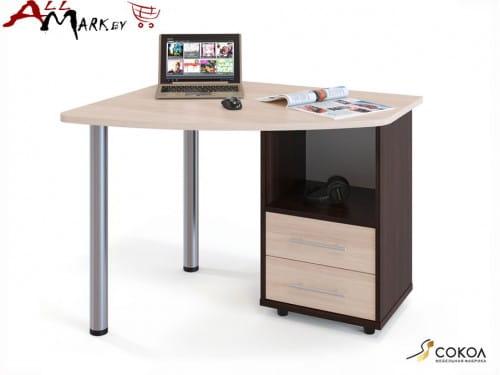 Компьютерный стол КСТ-102 Сокол  венге / дуб беленый