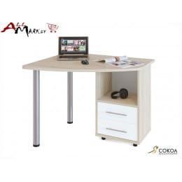 Компьютерный стол КСТ-102 Сокол дуб сонома / белый
