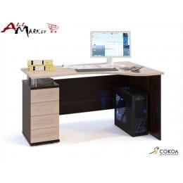 Компьютерный стол Сокол КСТ-104 венге / дуб беленый
