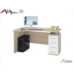 Компьютерный стол Сокол КСТ-104 дуб сонома / белый
