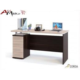 Компьютерный стол Сокол КСТ-105 венге / дуб беленый