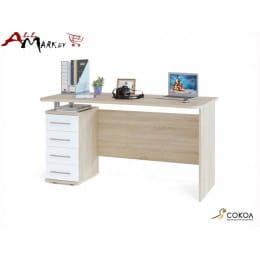 Компьютерный стол Сокол КСТ-105 дуб сонома / белый