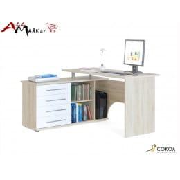 Компьютерный стол Сокол КСТ-109 белый / дуб сонома