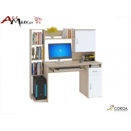 Компьютерный стол Сокол КСТ-11 дуб сонома / белый