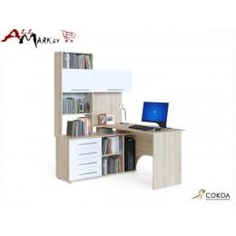 Компьютерный стол Сокол КСТ-14 дуб сонома / белый