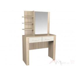 Столик туалетный Интерлиния Коламбия КЛ-016 дуб сонома / дуб белый