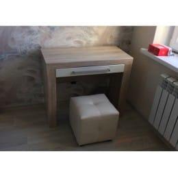 Стол туалетный SV-мебель Лагуна 6 дуб сонома / жемчуг
