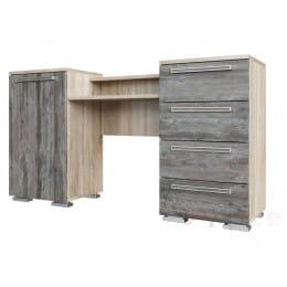 Стол туалетный SV-мебель Лагуна 2 дуб сонома / сосна джексон
