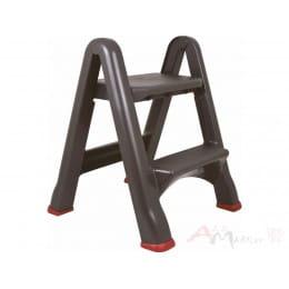 Стремянка Curver Step stool foldable черный