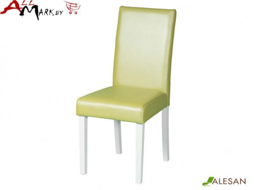 Кухонный стул Жерард Alesan с каркасом из массива бука, белая эмаль