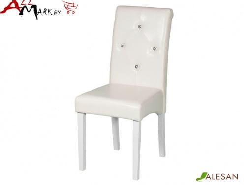 Кухонный стул Маэстро 3 Alesan с каркасом из массива бука, белая эмаль
