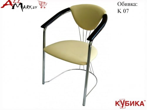 Кухонный стул Чинзано Кубика на комбинированном каркасе с экокожей