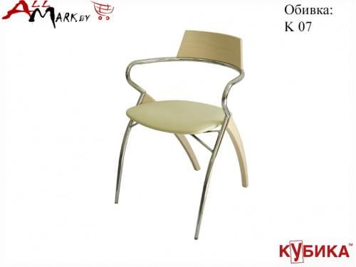 Кухонный стул Мартини Кубика на комбинированном каркасе с экокожей