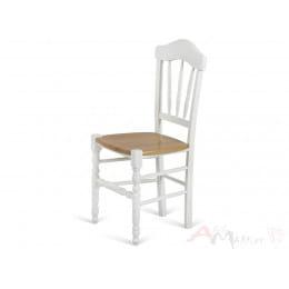 Стул Palma PALMA 40F WHITE / WOOD SEAT (белый/ дерев. сид. рустик)
