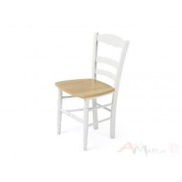 Стул Palma PALMA 43D WHITE / WOOD SEAT (белый/дерев. сид. рустик)