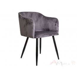 Кресло Sedia Orly velvet темно-серое