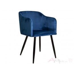 Кресло Sedia Orly velvet синее