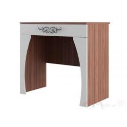 Стол туалетный SV-мебель Лагуна 7 ясень шимо темный / жемчуг