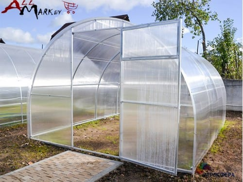 Теплица под поликарбонат Агросити Стандарт, длина 8 м
