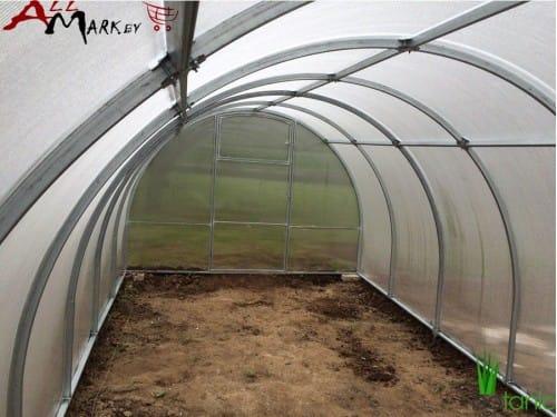 Теплица под поликарбонат Ботаник Агро с системой Краб труба 40x20 мм, длина 6 м