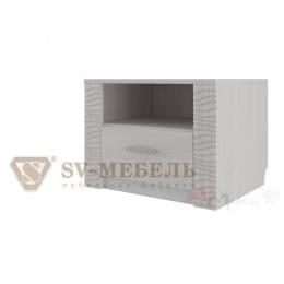 Тумба прикроватная SV-мебель Гамма 20 ясень анкор светлый / сандал светлый