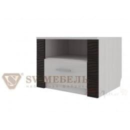 Тумба прикроватная SV-мебель Гамма 20 ясень анкор светлый / венге