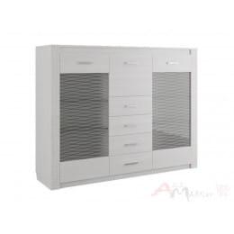 Комод-витрина SV-мебель Гамма 20 ясень анкор светлый / сандал светлый