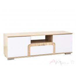 Тумба SV-мебель Нота 25 дуб сонома / белый глянец