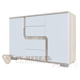 Комод SV-мебель Нота 25 дуб сонома / белый глянец
