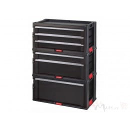 Комод для инструментов Keter Set 6 drawer 1+2+3