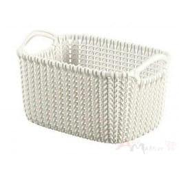 Корзинка Curver Knit Rectangular S белый